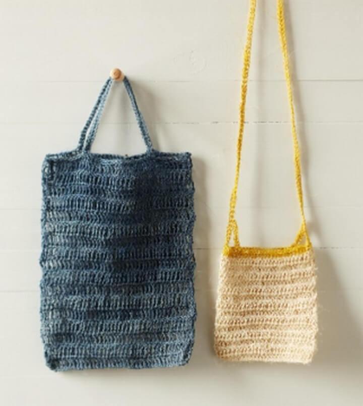 crochet craft, diy crochet bags, totes crochet bags