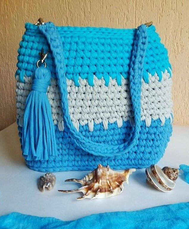 handle bag idea, diy handle bag, diy crochet bag, diy summer crochet bag