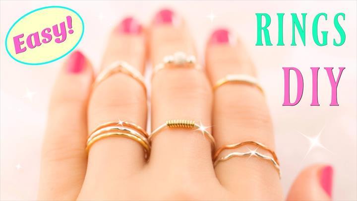 diy fashion, wire rings, diy rings
