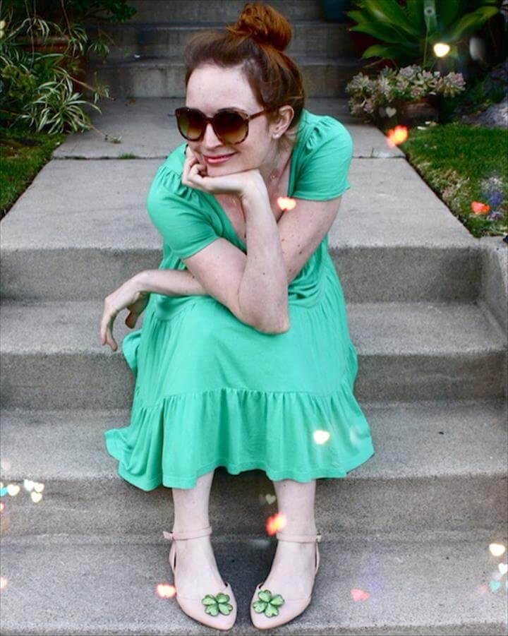 DIY - New Dress A Day - Shamrock Shoe Clips