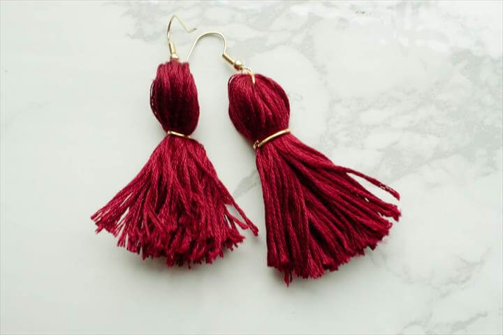 DIY: tassel earrings