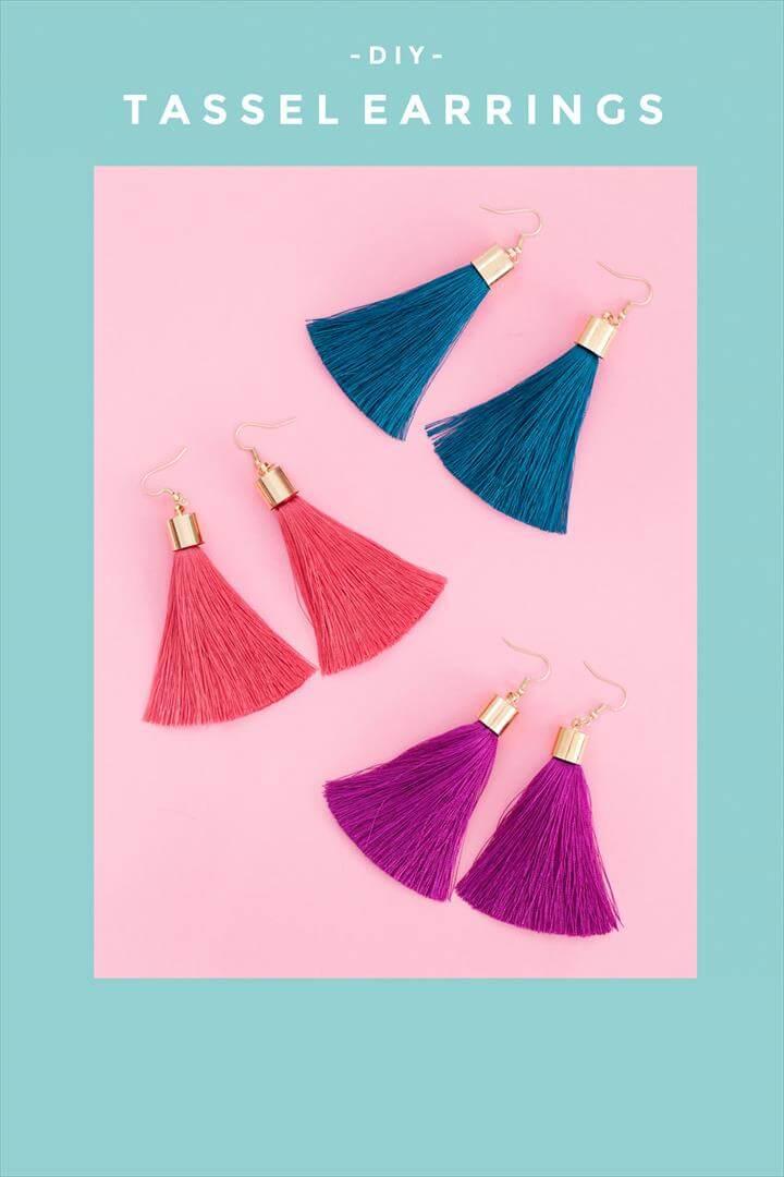 colorful tassel earrings