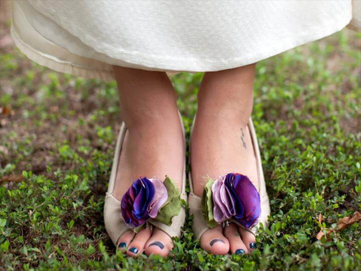 flower wedding shoe clip
