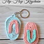 Crochet Flip Flop Key Chain