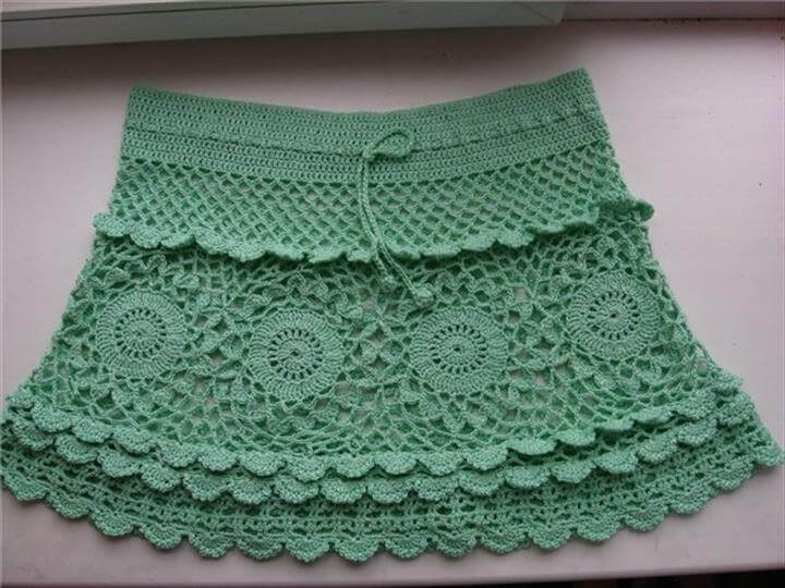 Crochet summer ladies skirt