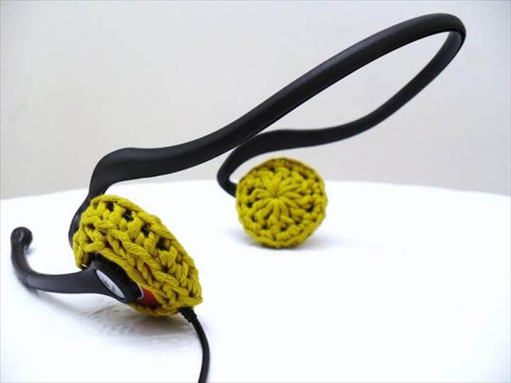 Miss Minoes: A Cat Lady, Crazy For Yarn: DIY ear cushions for headphone - Crochet pattern