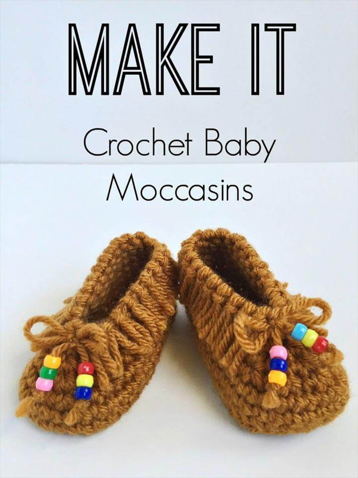 Crochet Baby Moccasins With Beads