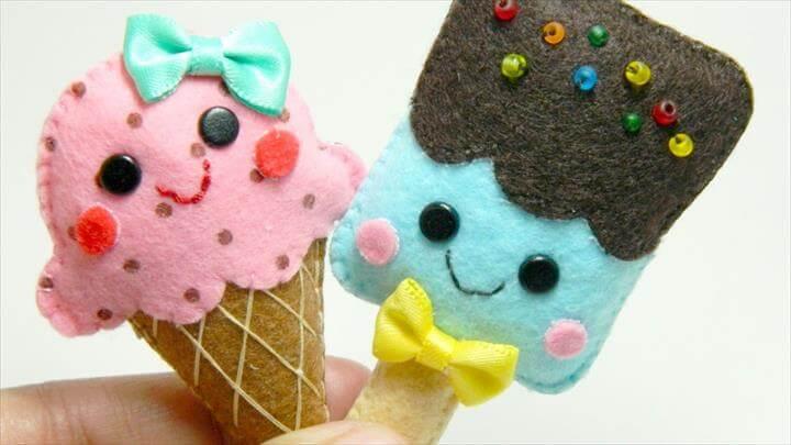 Adorable Felt Ice Cream Brooches - DIY Style Tutorial