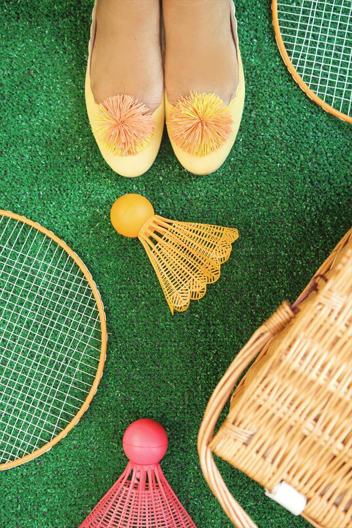 DIY Koosh Ball Shoe Clips