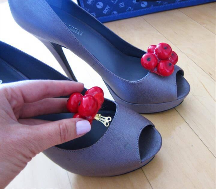 Cherry Shoe Clips