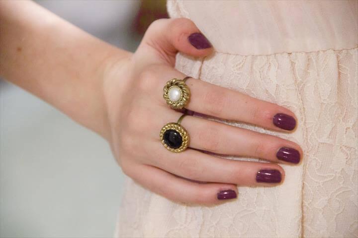 cute button rings