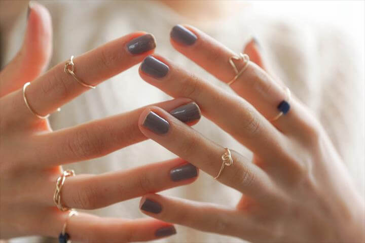 DIY dainty rings