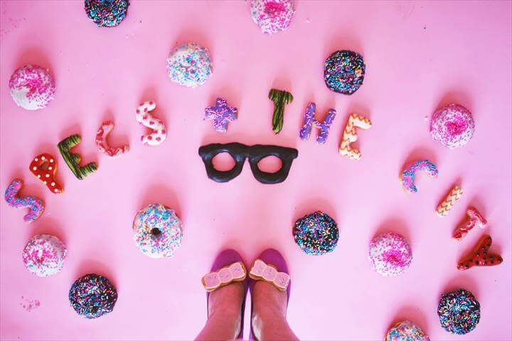 Donut inspired bows for your shoes or hair