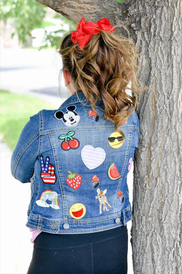 DIY Embellished Jean Jacket for Back to School