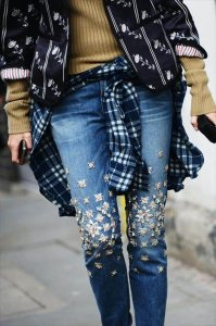 DIY: christopher kane x j. brand embellished jeans. - ...&& caramel makes everything sexier.