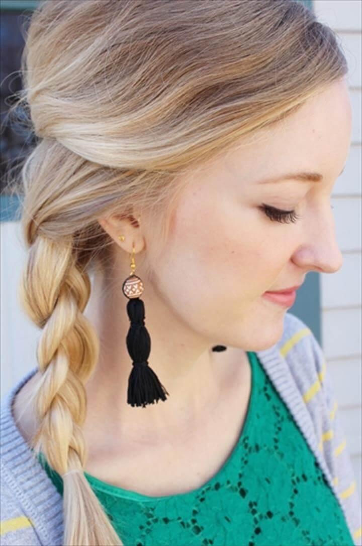 DIY Chic Embroidery Floss Tassel Earrings