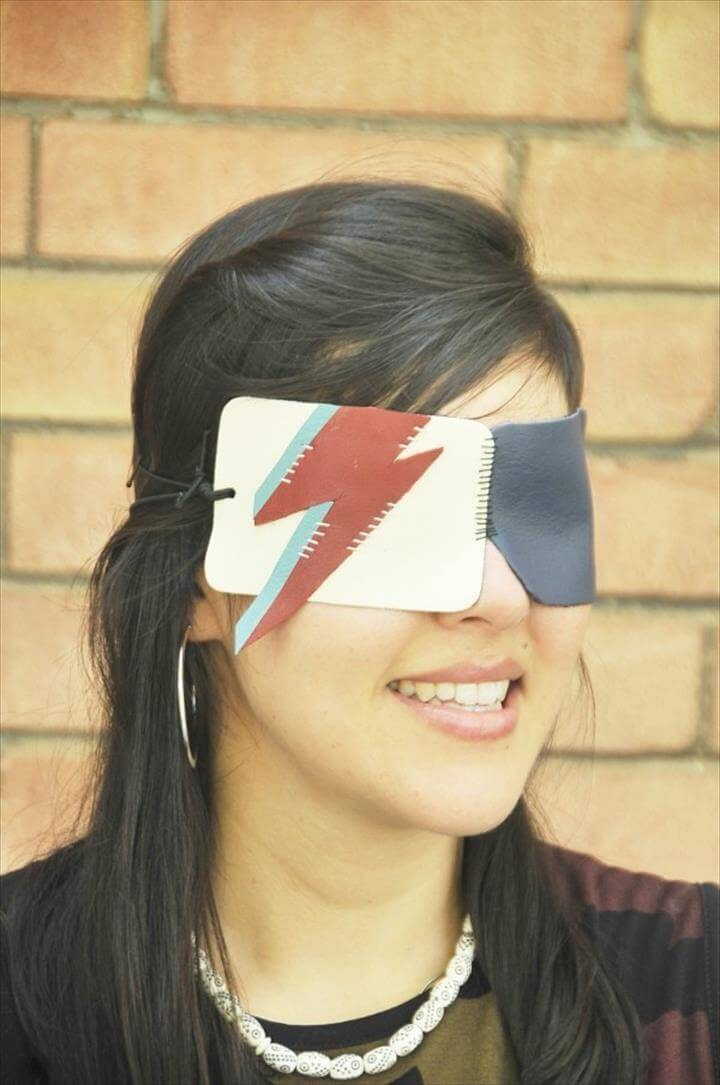 Bowie-Inspired Leather Eye Mask