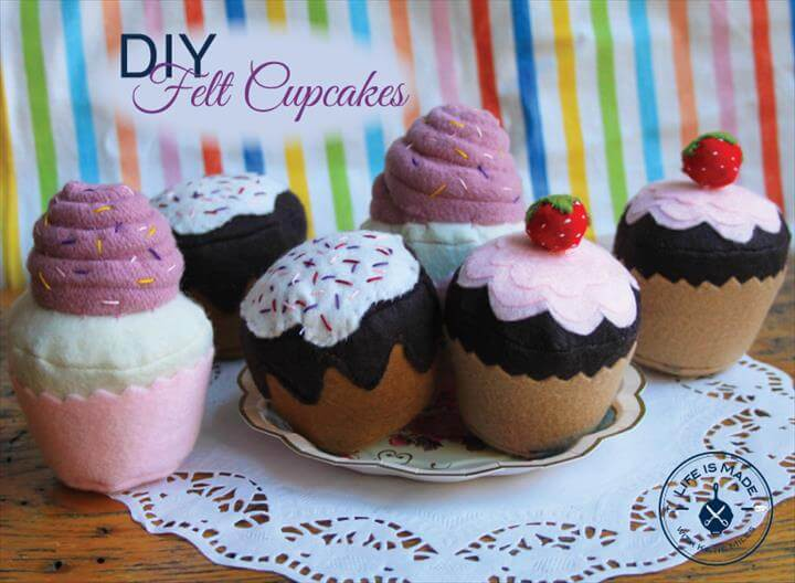 DIY Felt Cupcake Tutorial