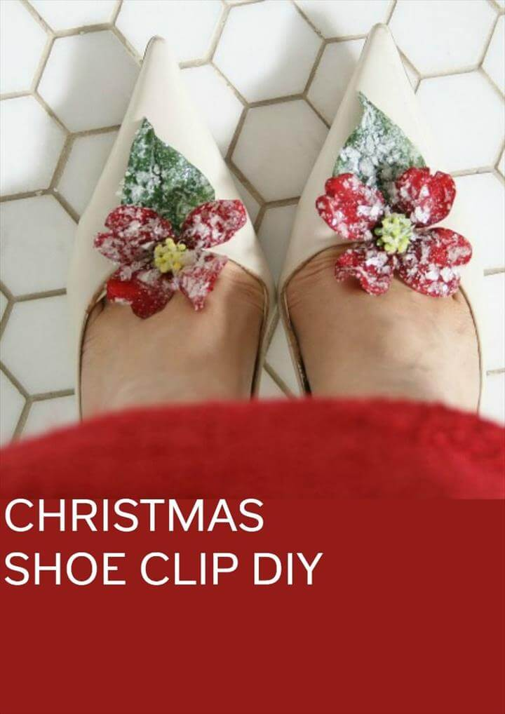 christmas shoe clip diy