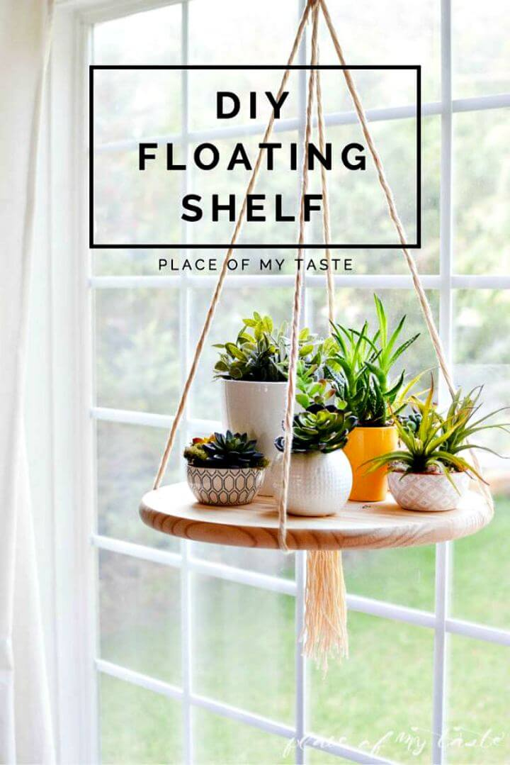 diy shelf idea, home decor shelf, floating shelf, diy hanging shelf, home decor piece