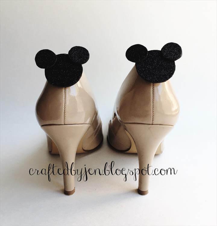 DIY Mickey Shoe Clips
