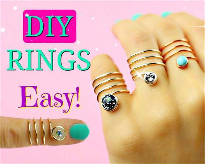 DIY rings - Galaxy
