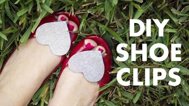 DIY Glitter Shoe Clips