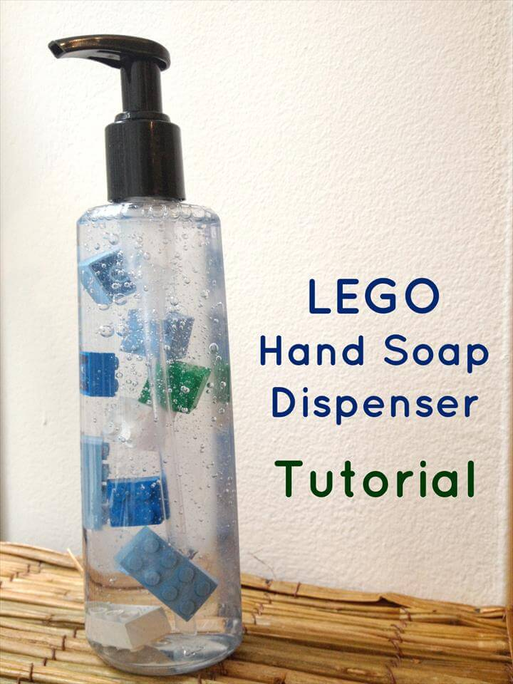 LEGO liquid hand soap dispenser tutorial