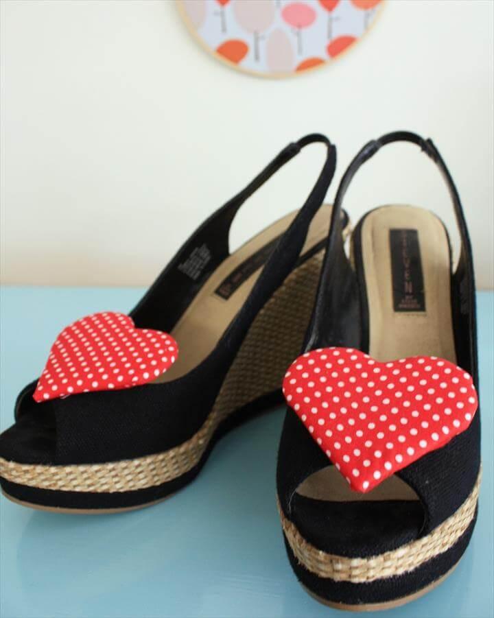 heart shoe clip