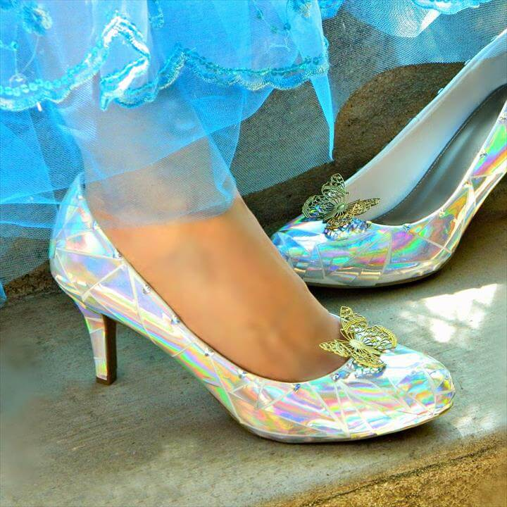 Cinderella's Glass Slippers DIY