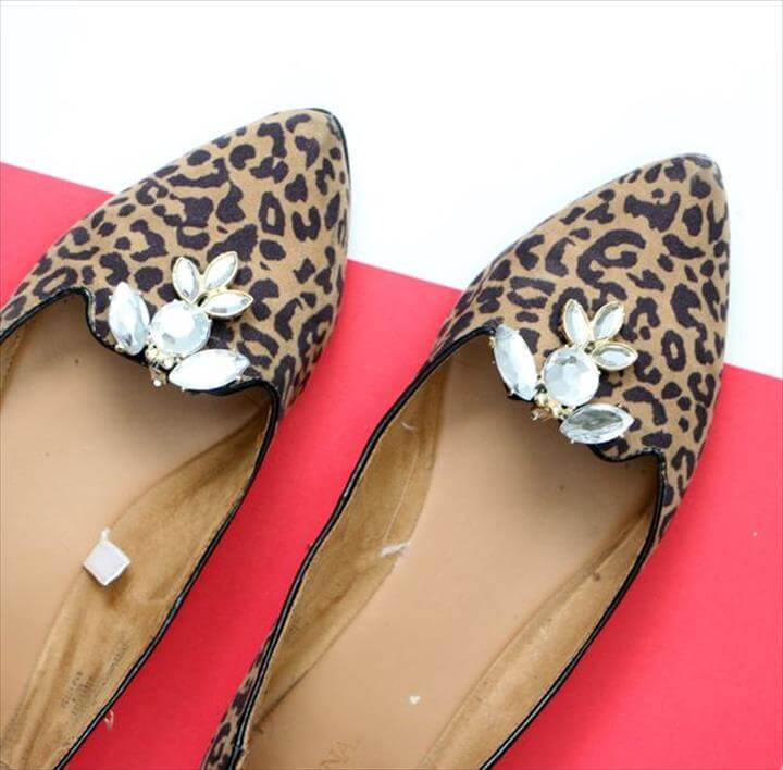 DIY Shoe Clips On animal print design