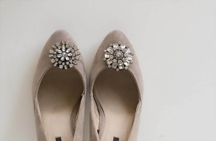 jeweled shoe clip