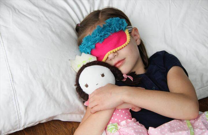 DIY Sleeping And Super Hero Masks To Make With Your Kids