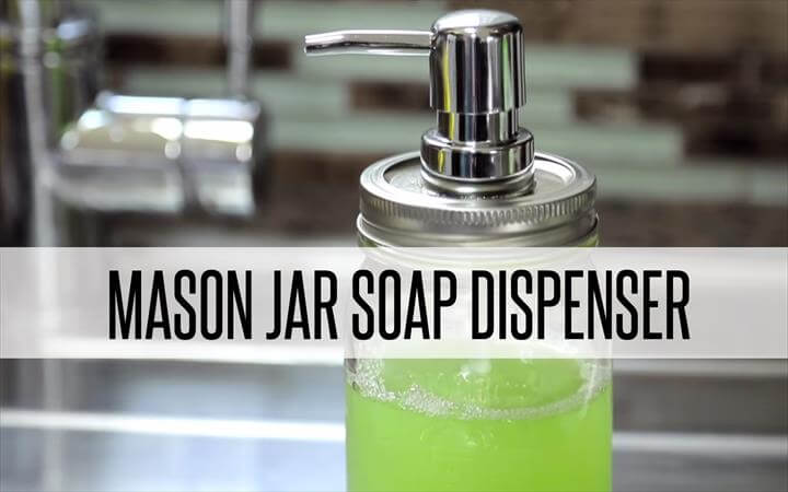 diy soap dispenser, mason jars