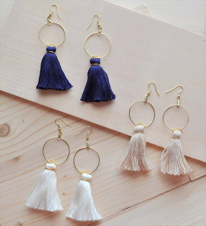 Easy DIY Tassel Hoop Earrings Anthro Hack