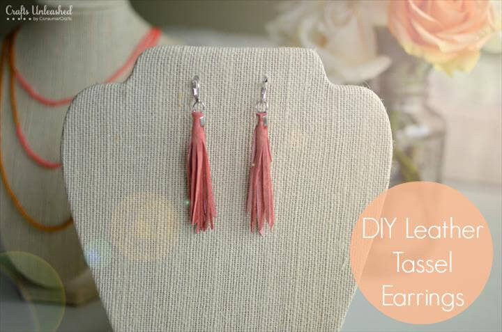 DIY Leather Tassel Earrings
