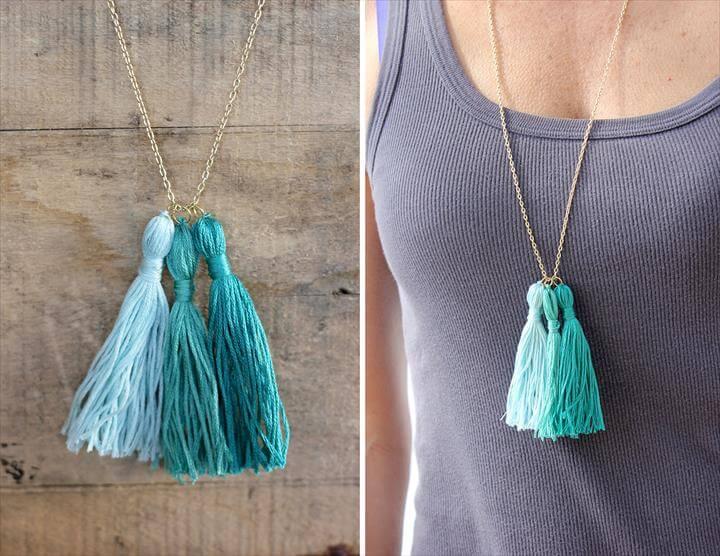 diy necklace, tassel necjlace, diy fashion, girls fashion