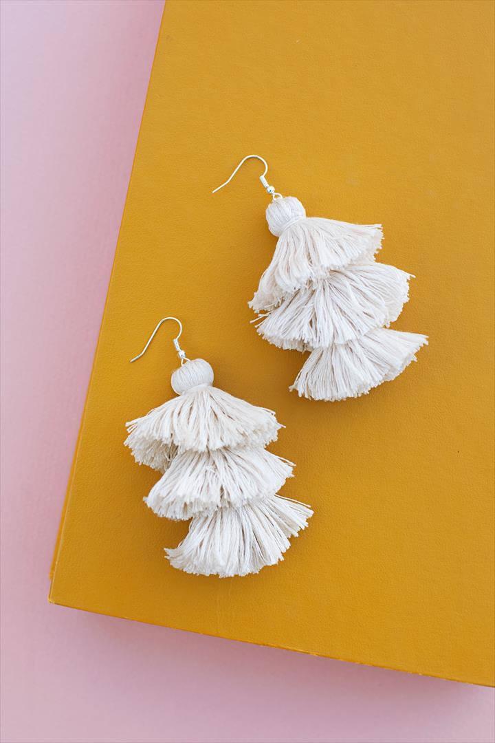 DIY Tiered Tassel Earrings