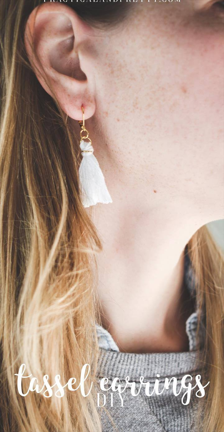 Don't splurge on tassel earrings when you can make a cute pair exactly how