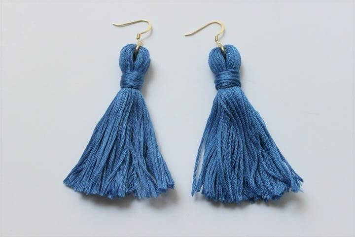 Tassels aren't just for home decor. Make these awesome earrings with a few