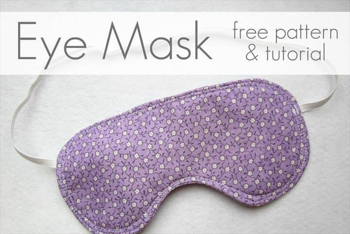 Eye Mask -- Free Pattern & Tutorial