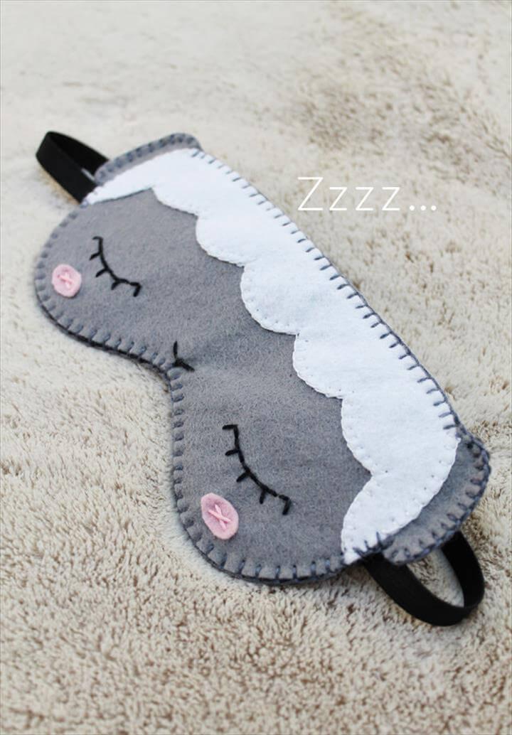 sheep sleep eye mask diy sheep sleep eye mask diy