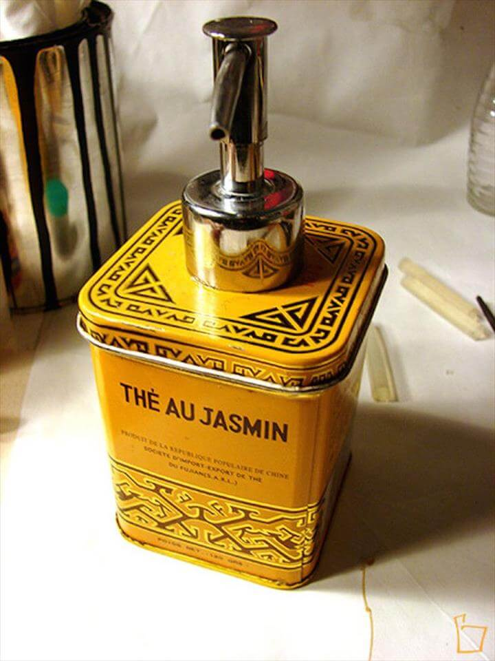 Tea Tin Soap Dispenser