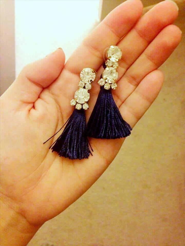 earrings, diy earrings, tassel earrings, diy fashion