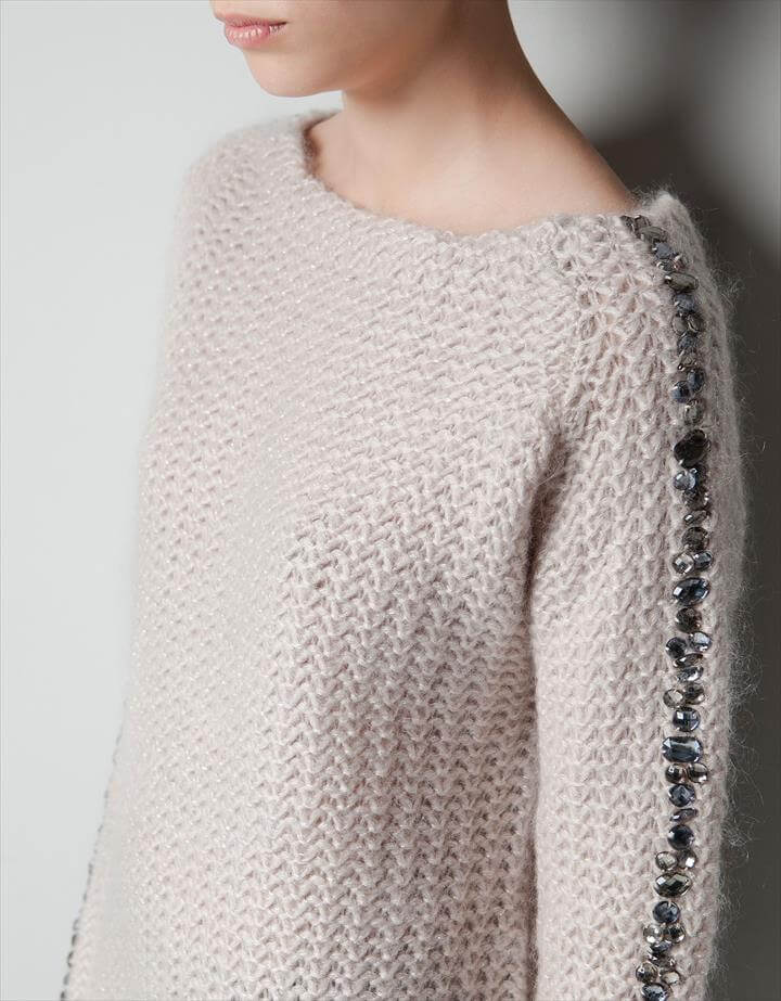 DIY inspiration: embellished sweater