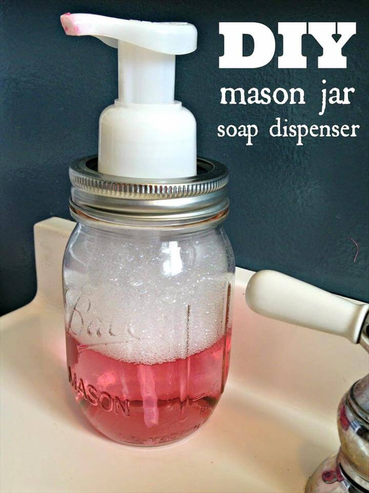 awesome mason jar soap dispenser