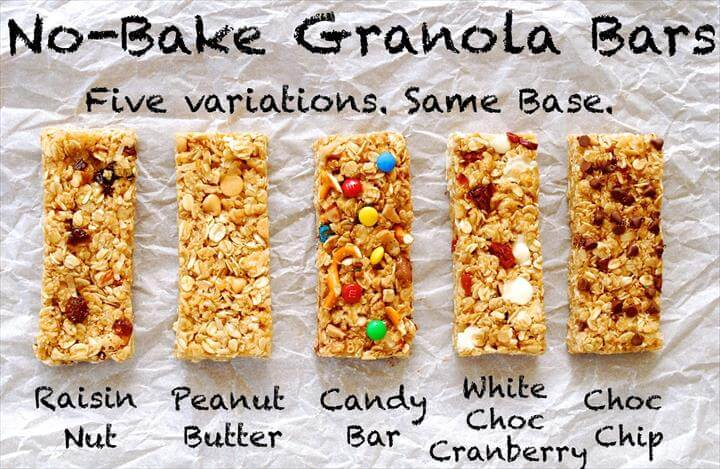 No-bake granola bars are perfect summer snacks! Plus kids can customize their granola