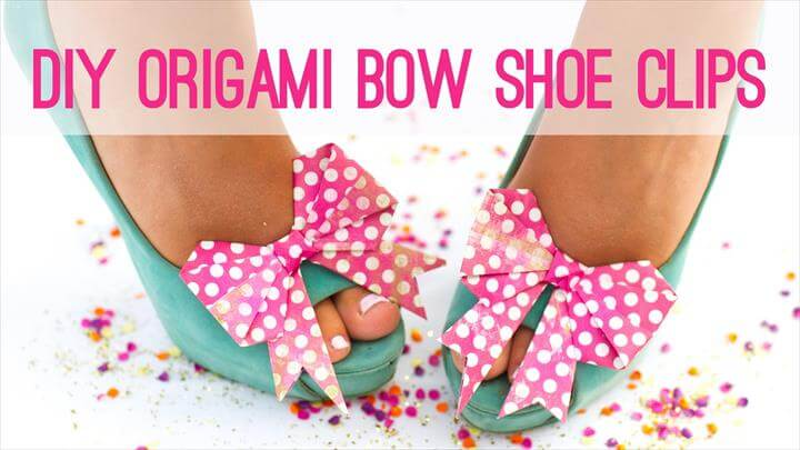 Origami Bow Shoe Clips - The Perfect Fashion DIY!