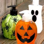 DIY Halloween Soap Dispensers