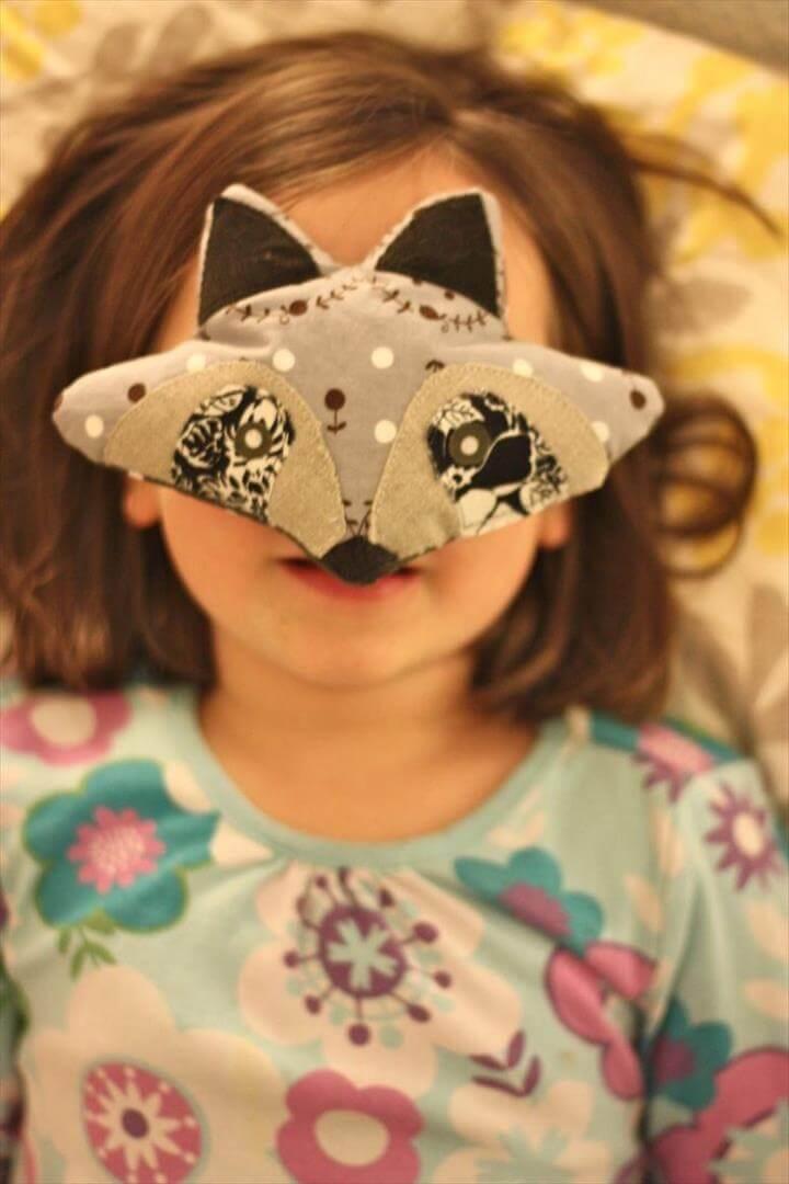 DIY raccoon eye pillow